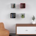 Mensola Design Cubo da Parete Square Nera cmposizione