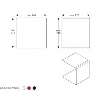 Mensola Design Cubo da Parete Square Nera scheda tecnica