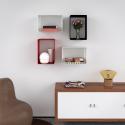 Mensola Design Cubo da Parete Recta composizione a parete
