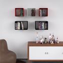 Mensola Design Cubo da Parete Recta composizione a cinque elementi