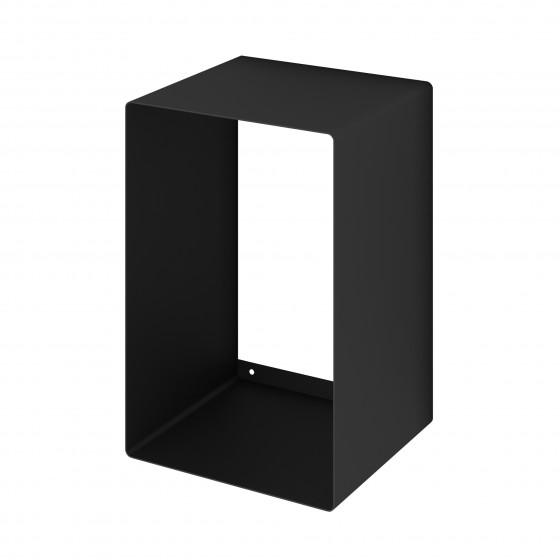 Mensola Design Cubo da Parete Recta Nera
