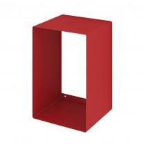 Mensola Design Cubo da Parete Recta Rossa