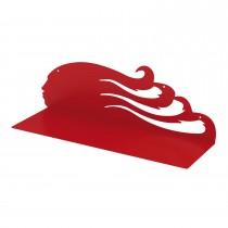 Mensola design SWING L Rosso