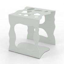 Portaoggetti in metallo Stone - Bianco