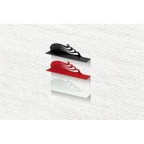 Mensola design SWING X Rosso