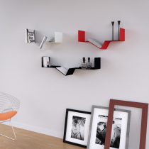 Mensola Design Tech XLarge Rossa 90cm