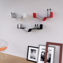 Mensola Design Tech XLarge Nera 90cm
