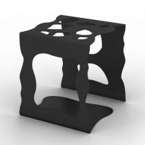 Portaoggetti in metallo Stone - Nero