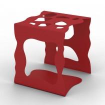 Portaoggetti in metallo Stone - Rosso