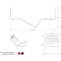Mensola design DANCE X Rosso