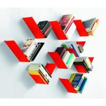 Mensola Design Birdy SX Bianca libreria da parete